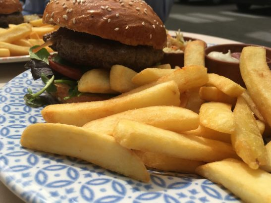 Burger and Steakhouse Fries @ Chez Ima