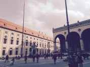 Odeonsplatz Blick auf Münchner Residenz