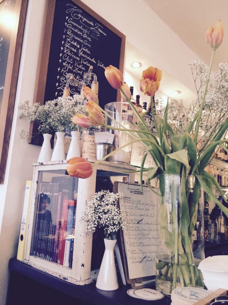Tulips in Bar Corso