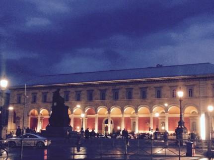 Abendhimmel Opernplatz