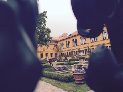 Lenbachhaus - Blick in den Garten