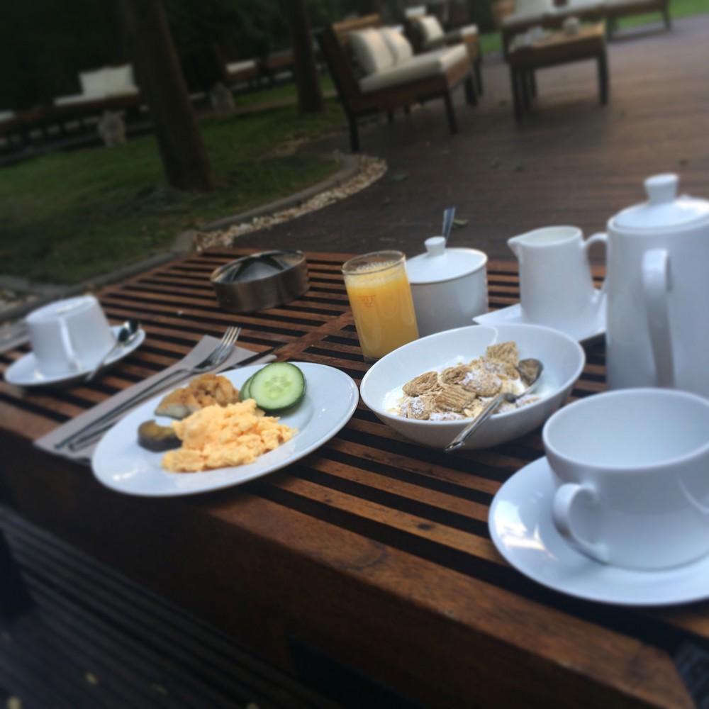 Breakfast outdoor