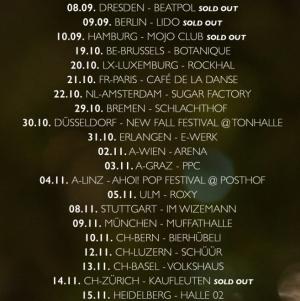 Tour-Daten BOY 2015/2016