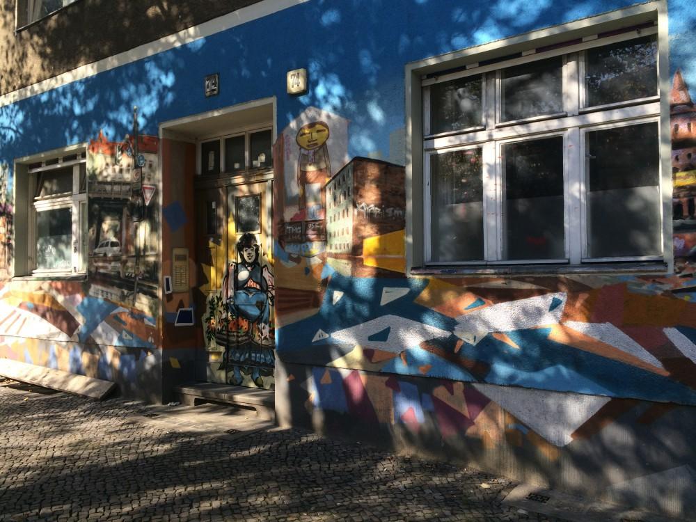 painted facade in Berlin Kreuzberg