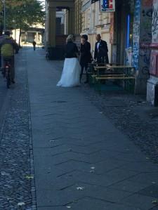 Brautpaar in Berlin-Kreuzberg