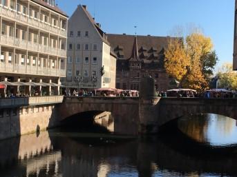 Nürnberg, Blick auf Heilig-Geist-Spital