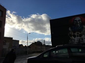 Dublin, Streets with Art, close to Grattan Bridge