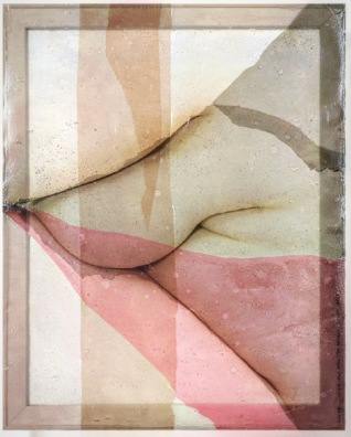 UNCLAD shapes (female) #08A, 2017 Digitaldirektdruck, Lichtlter-Folien, Holz-Keilrahmen, Acrylfarbe, 60 x 75 x 4 cm, Unique